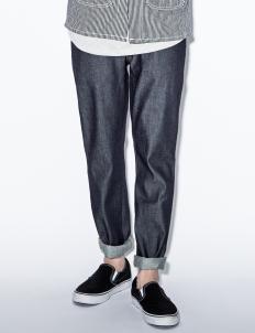 Blue Slim Jim Dry Broken Twill Denim Jeans