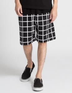 Black Tech Grid Shorts