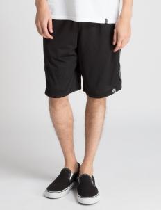 Black Targyle Mesh Shorts