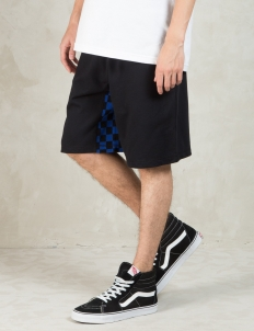 Black Checked Gusset Shorts