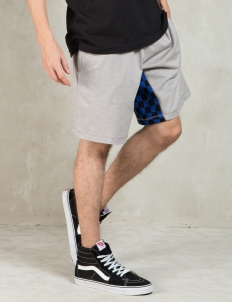 Heather Grey Checked Gusset Shorts