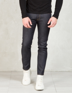 Indigo Knit Like Denim Taperd Slim Pants