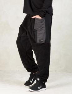 Black Tv Fuzz Duplo Pants