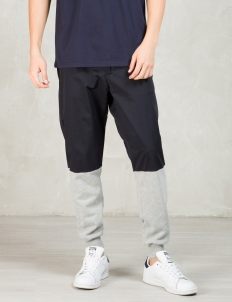 Navy/grey Chino Jersey Mixed Casual Sport Pants