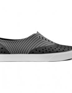 Jiffy Black/Wavey Grid Print Miller Print Shoes