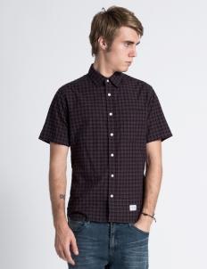Burgundy SS Plaid Shirt