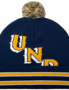 Navy UND Pom Beanie