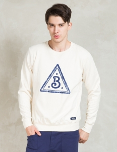 "White L/S ""b"" Sweatshirt"