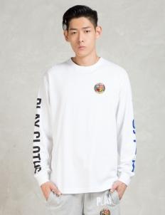 White L/S Wing Span Sweatshirt
