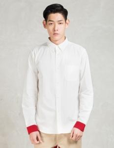 White Red Cuffs Shirt
