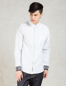 White Dave L/S Oxford Shirt
