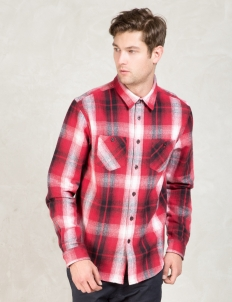 Red Heavy Brushed Flannel