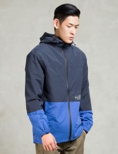 Navy Carson Windbreaker Jacket