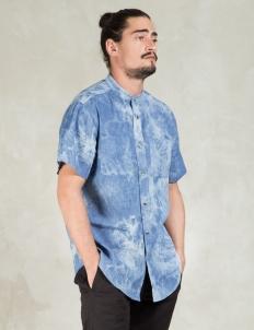 Light Bleach Tubes Bleach Dyed Chambray Shirt