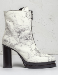 Off White Multi Marble Korinne Zip Boots