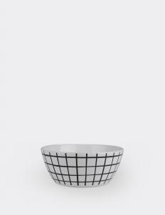 Black & White Gingham Bowl