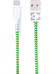 Green/Yellow Fluorescent Micro USB Collective Cable