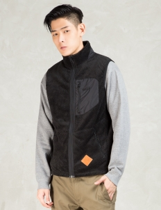 Black Thermal Fleece Vest