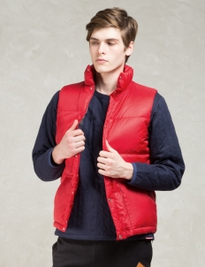Red Blanket Lining Down Vest