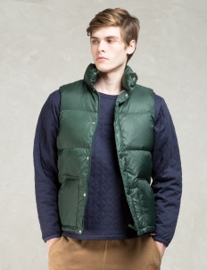 Green Blanket Lining Down Vest