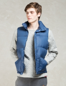 Navy Blanket Lining Down Vest