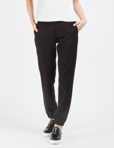 Black Focal Suiting Jogger Pants