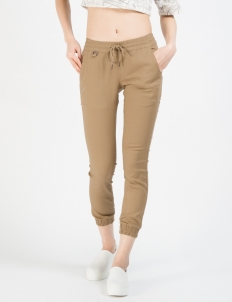 Khaki Women Sprinter Jogger Pants