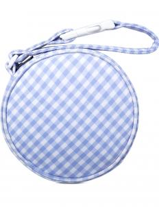 Sky Blue Gingham Check Circle Bag