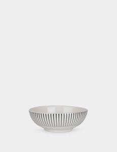 Set of 4 Cereal Bowl Zebra Rim White