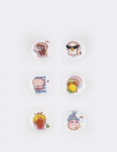 Summer Pan Set of 6 Pin / Buttons