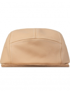 Natural Jet Cap Natural Tanning Cow Leather