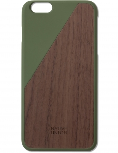 Green Clic Wooden Iphone6+ Case Walnut