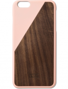 Pink Clic Wooden Iphone6+ Case Walnut