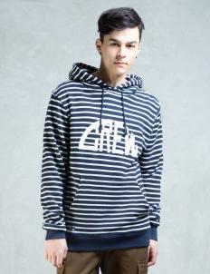 Horizontal Striped Sweater Hoodie
