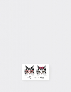 Mr And Mrs Cat Temporary Tattoo