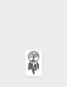 Tree of Life Dreamcatcher Temporary Tattoo