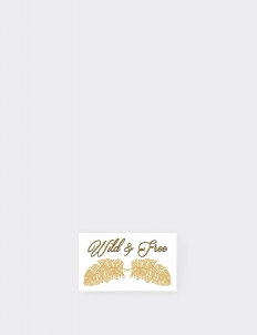 Golden Wild and Free Temporary Tattoo