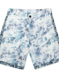 Ocean Print Athletic Shorts