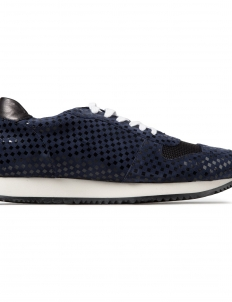 Navy Multi Checkered Arrow Sneaker