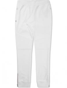 White Biker Jersey Track Pants