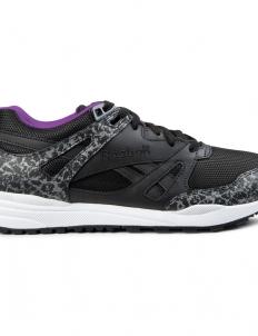 Black/White/Aubergine Ventilator Reflective Shoes