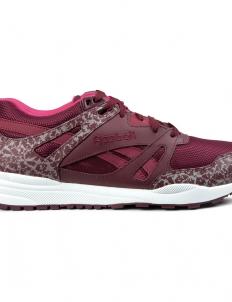 Burgundy/White/Pink Ventilator Reflective Shoes
