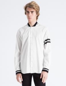 White Stripes Sports Shirt