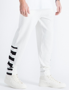 White Striped Sweatpants