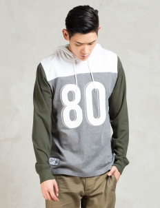Grey Calvin Ls Hooded Knit
