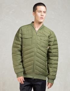 Olive Down Bomber Jacket