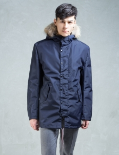 Navy Waterproof Parka W/ Reversible Inner Vest