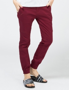 Maroon Lexie Signature Over Dyed Twill Jogger Pants