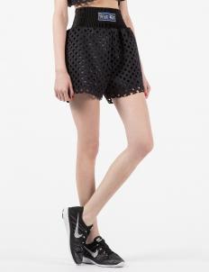 Black 3D Mesh Gate Shorts