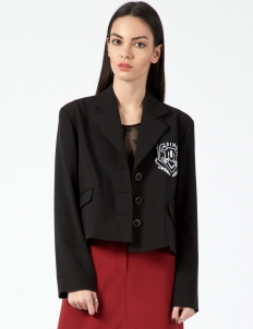 Black Logo Tailored Jacket